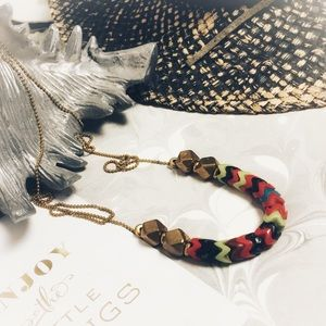 VANESSA MOONEY Brass Long Colorful Necklace